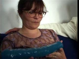 Dildo Glasses Mature Mom