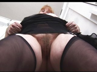 Close up Hairy Stockings Stripper