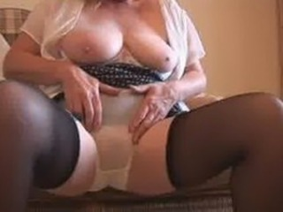 Amateur Big Tits Homemade Lingerie Natural Panty Stockings