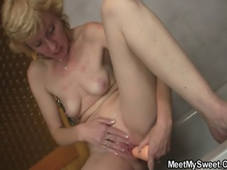 Bathroom Dildo Masturbating Skinny Small Tits Toy