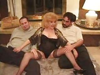 Mature Stockings Threesome