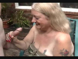 Big Cock Handjob Outdoor Tattoo