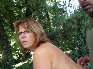 Amateur Glasses Mature Older Outdoor
