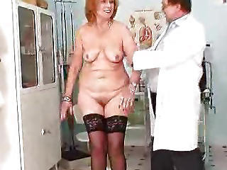 Chubby Doctor Older Redhead  Stockings