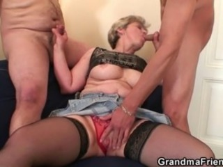 Blowjob Family Mom Old And Young Small Cock Stockings Threesome