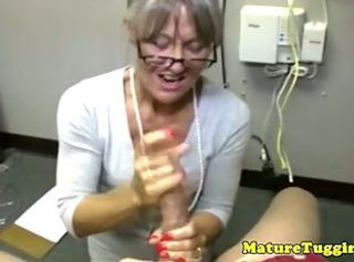 Big Cock Glasses Handjob Mature Mom Old And Young Secretary