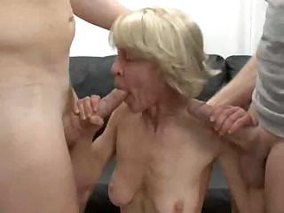 Big Cock Blowjob  Skinny Threesome