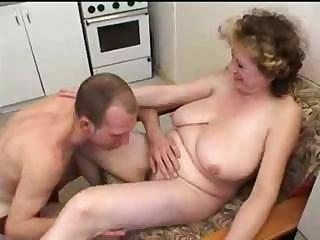 Amateur  Big Tits Homemade Kitchen Mom Natural Old And Young Russian
