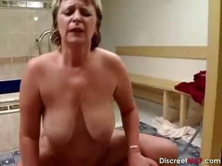 Big Tits Chubby European German Natural Pool Riding