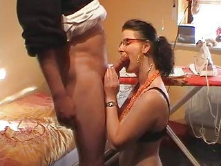 Amateur Blowjob Glasses Homemade Mature Wife