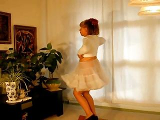 Amateur Dancing Homemade Skirt