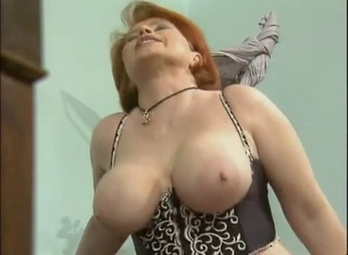 Big Tits Lingerie Mature Natural Office Redhead