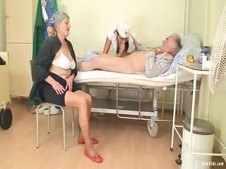 Blowjob Nurse Old And Young Threesome Wife