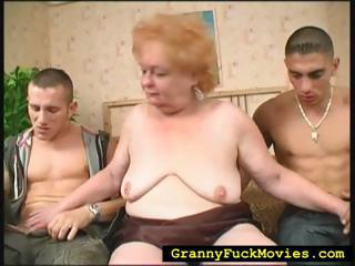 Family Handjob Mom Old And Young  Threesome
