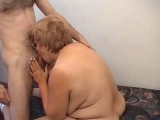 Blowjob Glasses Mom Old And Young
