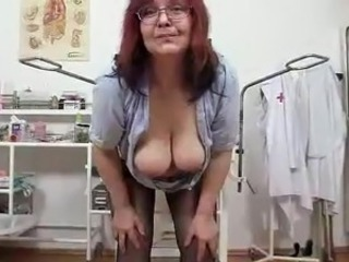 Big Tits Glasses Natural Nurse Redhead Solo Stripper Uniform