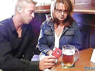 Amateur Drunk Glasses Mom Old And Young Public