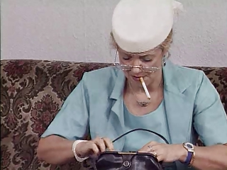 European German Glasses Smoking Wife