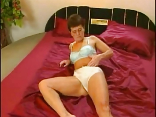 European German Lingerie Masturbating Panty Solo