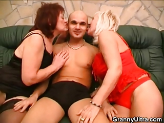 Lingerie Mom Old And Young Panty Threesome