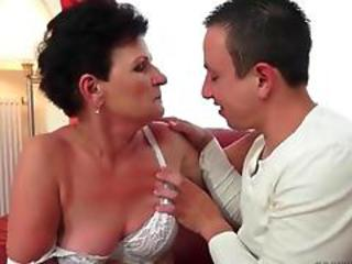 Brunette Lingerie Mom Old And Young