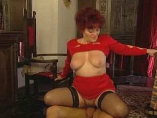 Clothed Natural Old And Young Redhead Riding Stockings Vintage