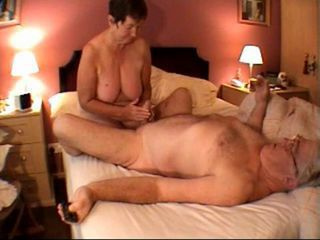 Amateur Big Tits Handjob Homemade Natural Older  Small Cock Wife