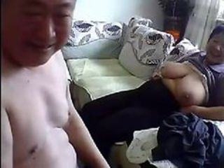 Asian Big Tits Chinese Natural Older  Webcam Wife
