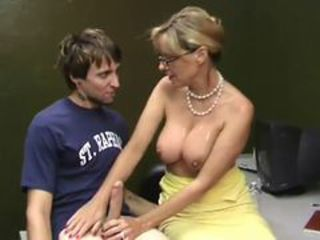 Big Cock Big Tits Glasses Handjob Mature Mom Old And Young