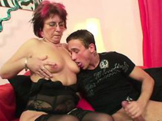 Licking Lingerie Mom Nipples Old And Young