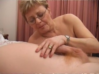 Glasses Handjob Mom Old And Young