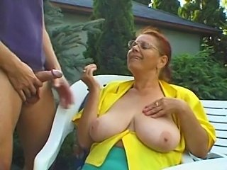 Big Tits Glasses Mature Mom Natural Old And Young Outdoor Redhead