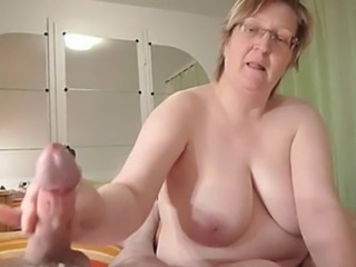 Amateur  Big Cock Big Tits Glasses Handjob Homemade Mature Natural  Wife
