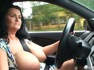Big Tits Car Mature Mom