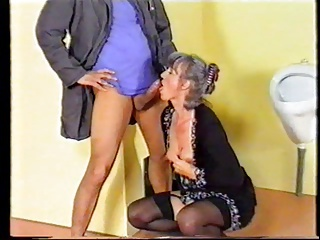 Blowjob Clothed European German Mature Teacher Toilet