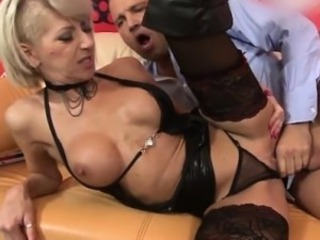 Big Tits Lingerie Mature Mom Old And Young Silicone Tits