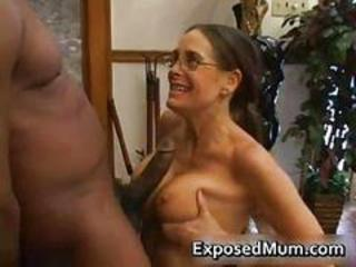 Big Cock Brunette Glasses Interracial