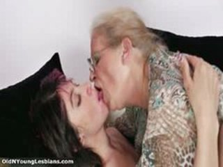 Glasses Kissing Lesbian Old And Young