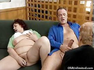 Masturbating Older Threesome