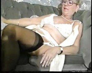 Amateur Glasses Lingerie Stockings