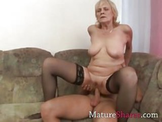 Hardcore Mom Old And Young Riding  Stockings