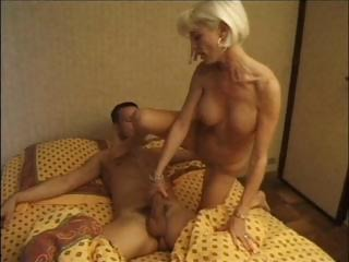 Amateur Mom Old And Young Riding