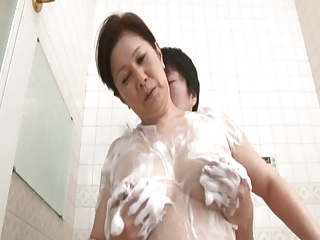 Asian Japanese Mom Old And Young Showers