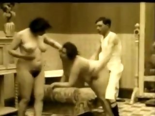 Chubby Hairy Threesome Vintage