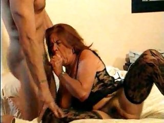 Blowjob European French Hairy Lingerie Stockings