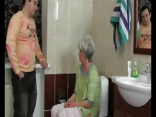 Mom Old And Young Toilet