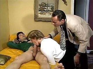 Big Cock Blowjob Cuckold European French Threesome Wife