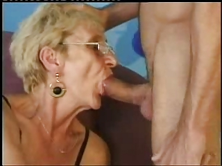 Big Cock Blowjob Glasses Mom Old And Young Skinny