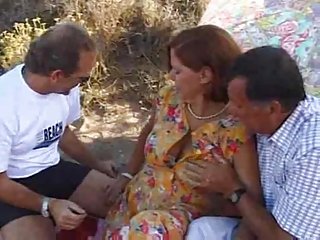 Cuckold Older Outdoor Threesome Wife