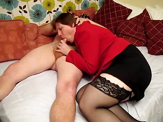 Blowjob Mom Old And Young Stockings